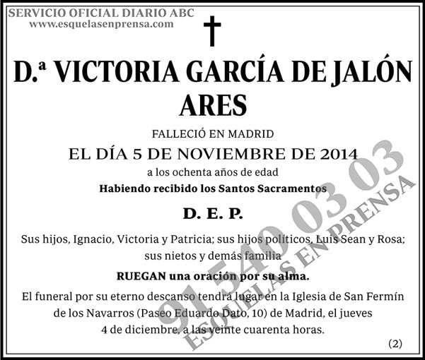 Victoria García de Jalón Ares